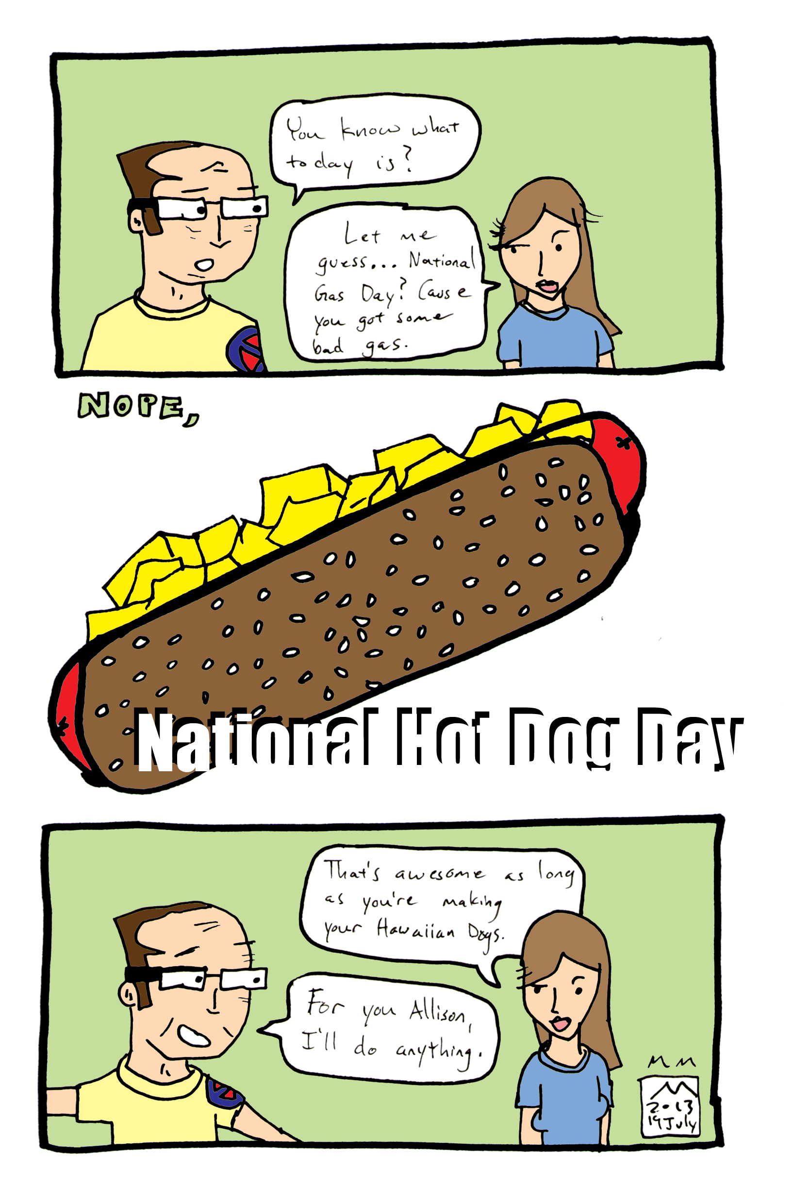 national hot dog day 2013