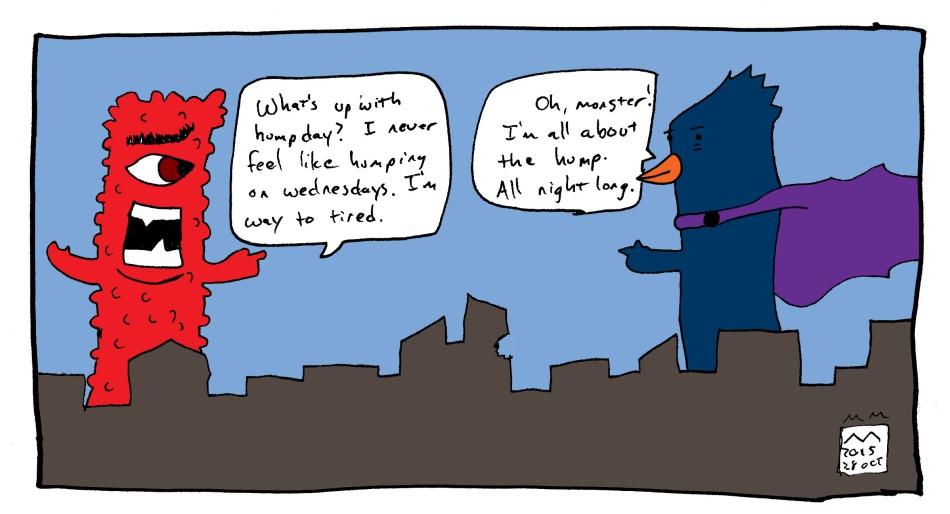 monster comic - hump day