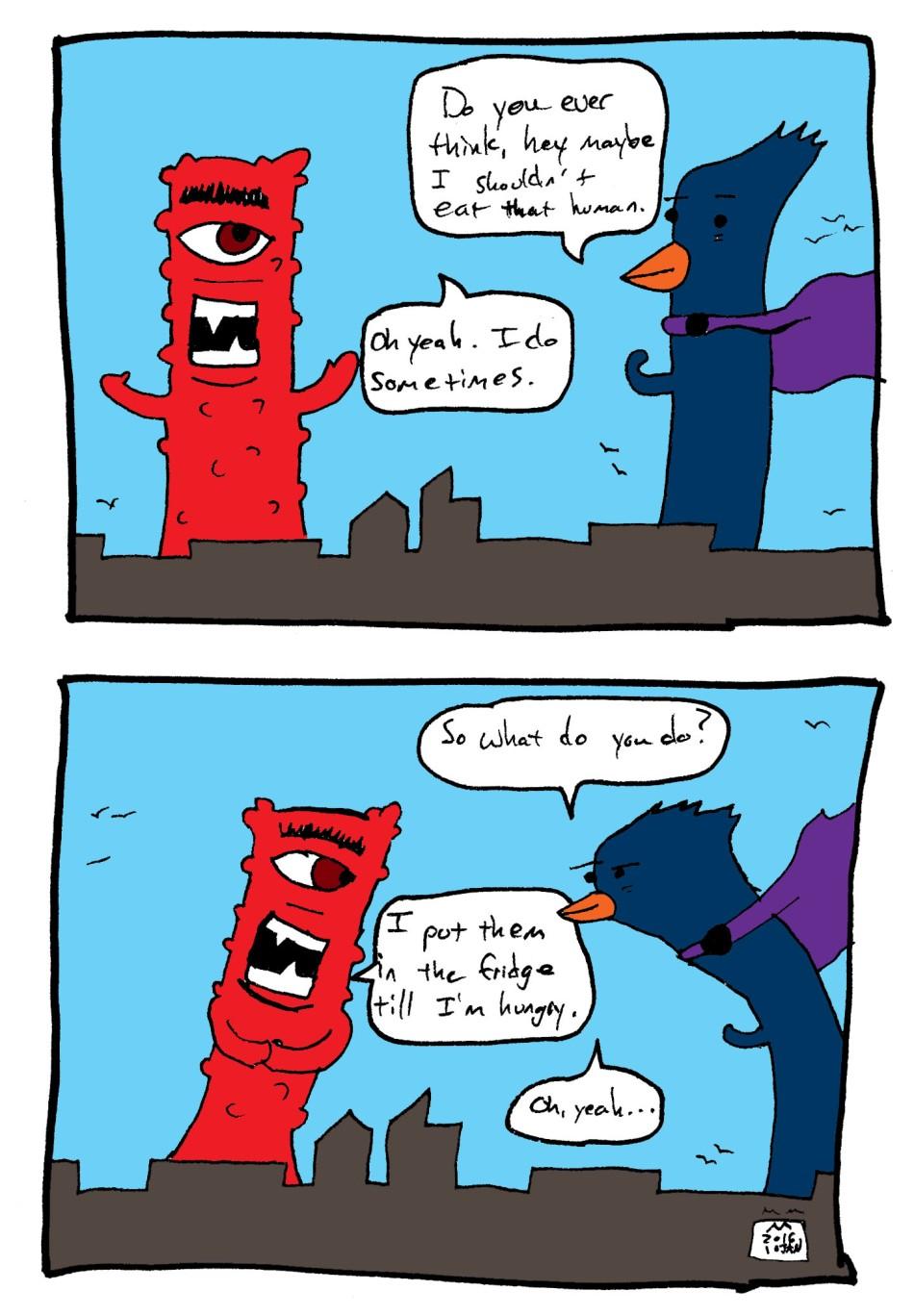 monster comic - fridge