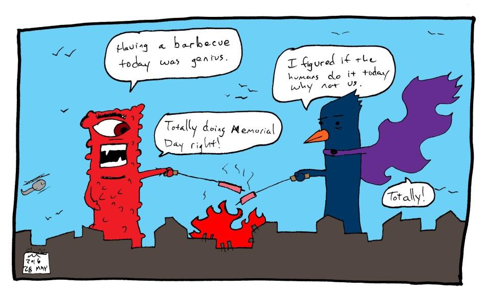 17 monster comic - memorial day